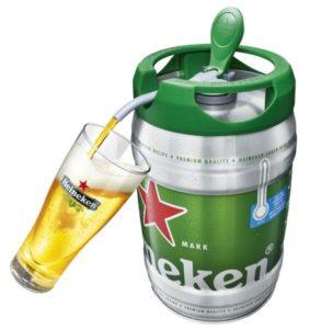 手軽に本格生ビールが楽しめる「ハイネケン5リットル樽」 花見などで活躍