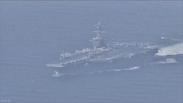 米空母カール・ビンソン 日本海に展開 | NHKニュース