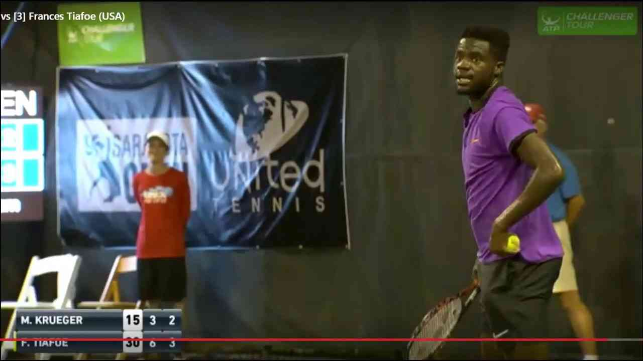 Loud sex noises interrupt Sarasota Open tennis match between Frances Tiafoe and Mitchell Kruege - YouTube