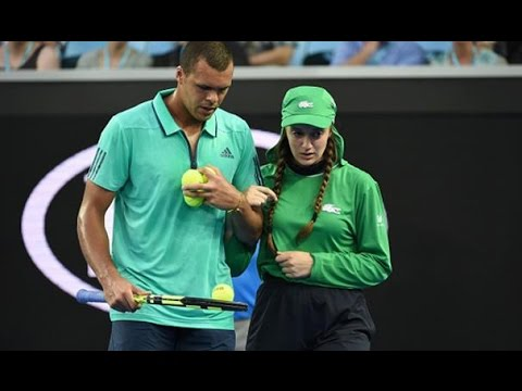 Tsonga comes to aid of injured ballgirl | Australian Open 2016 - YouTube