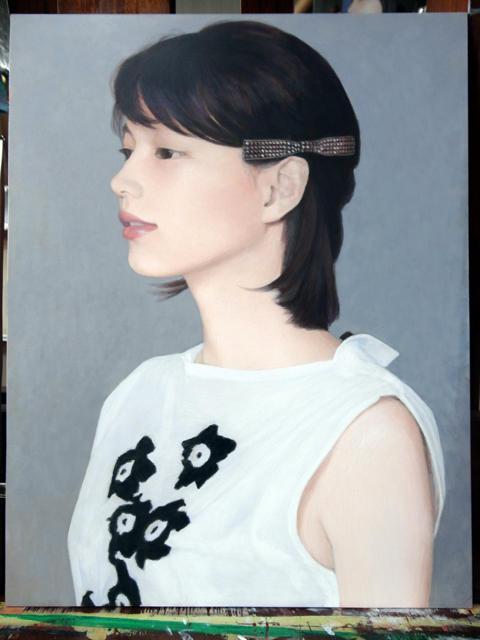 能年玲奈さんをアクリル絵の具で描いてみた・2:途上の片隅にて