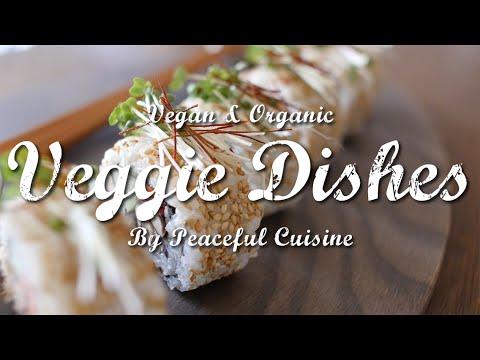 すし酢も自家製、よりヘルシーな選択を!簡単ベジ巻き寿司の作り方 | Veggie Dishes by Peaceful Cuisine - YouTube