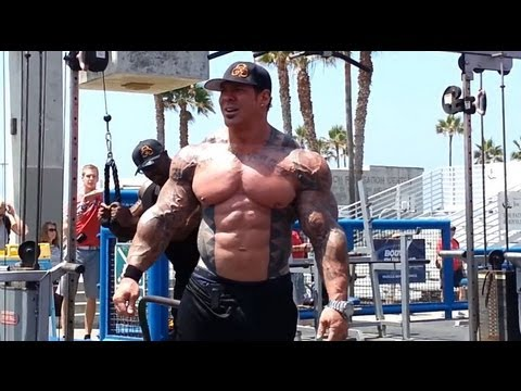 SUPERMUTANTS Rich Piana, Gabe Moen, Ron Partlow & Renaldo Gairy take over The Muscle Beach Pit - YouTube