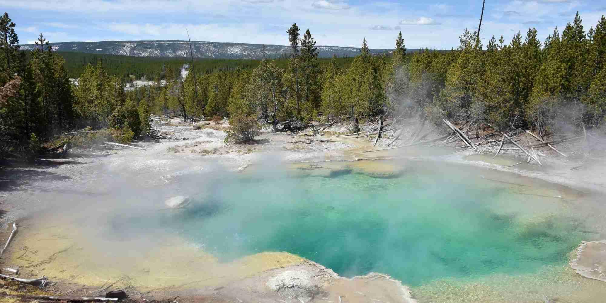 酸性の熱水泉に転落し男性死亡、遺体溶けてなくなる アメリカ国立公園