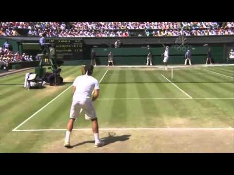 Roger Federer - How to return Ivo Karlovic serves - YouTube