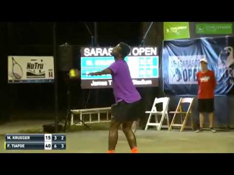 Love making disrupts tennis match in Sarasota. Can't be that good, says Tiafoe [HQ] - YouTube