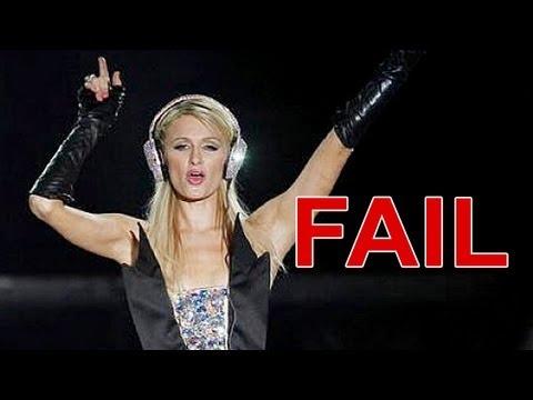 Paris Hilton DJ @ Brazil 2012 - Fail - YouTube