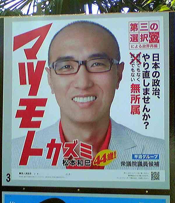 変な選挙ポスターを貼るトピ