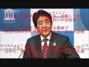 安倍政権が中国人に対するビザ発給要件の緩和策発表 by 名無し 政治/動画 - ニコニコ動画