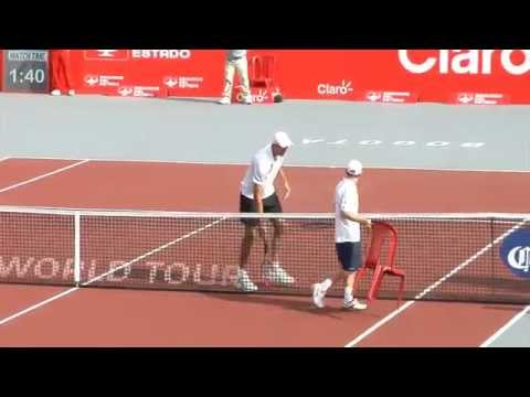Dudi Sela taking a chair to hug Ivo Karlovic post match - YouTube