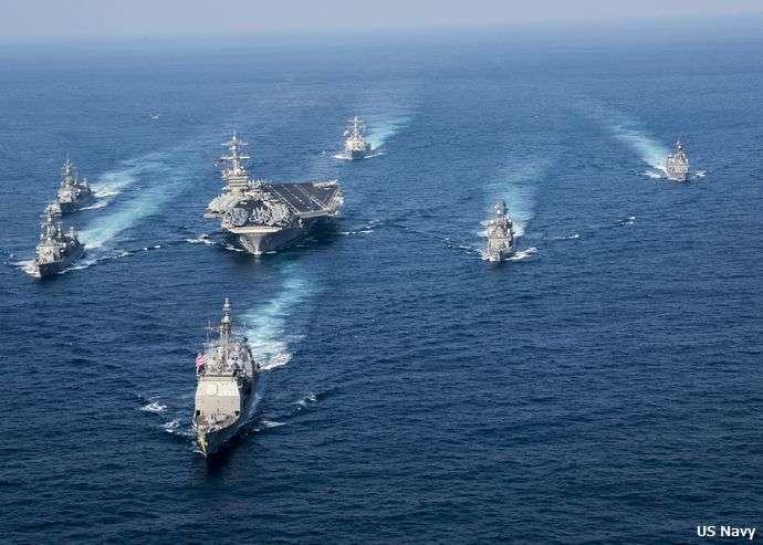 海上自衛隊が、朝鮮半島へ向かう米空母打撃群に護衛艦を数隻派遣へ…ヘリコプター発着艦訓練や通信訓練などを想定! : 軍事・ミリタリー速報☆彡