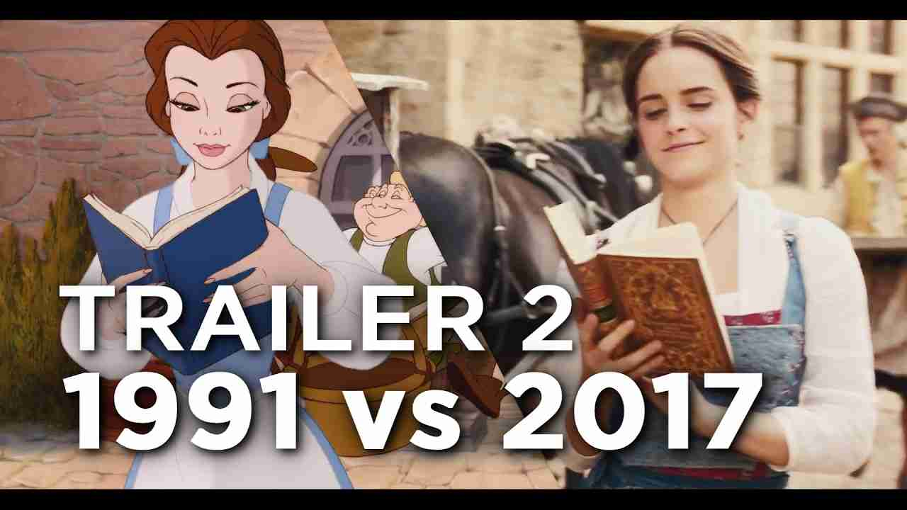 Beauty and the Beast Trailer 2 - 1991 vs 2017 Comparison/Side by Side - YouTube