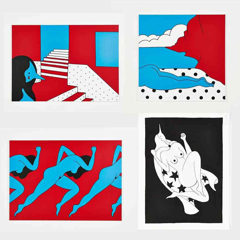 エキセントリックな絵画やポスターを貼るトピ♪
