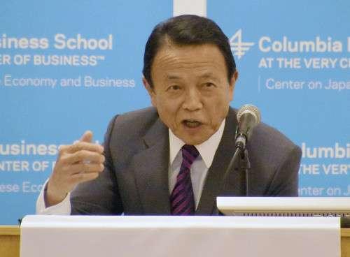 麻生氏「上げやすい景気状況に」消費増税に意欲 : 経済 : 読売新聞(YOMIURI ONLINE)