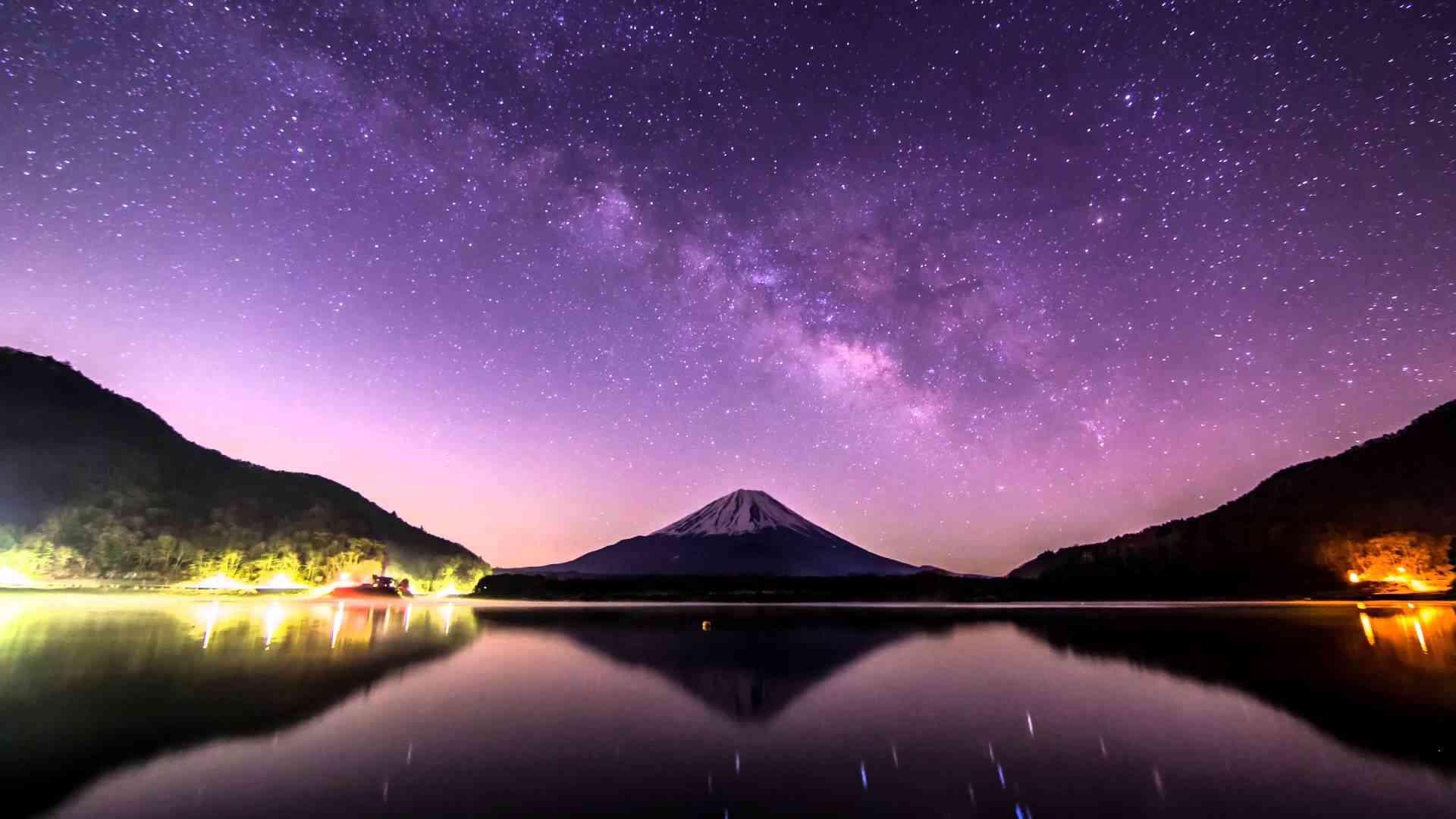 星空タイムラプス 4K☆富士山のある星景色☆#9 Mt.Fuji Starry Night timelapse Japan - YouTube