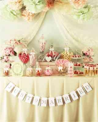 結婚式のデザートビュッフェ