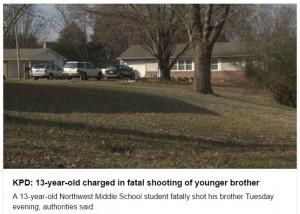 米テネシー州で13歳兄が銃を暴発、12歳弟が死亡  両親は留守
