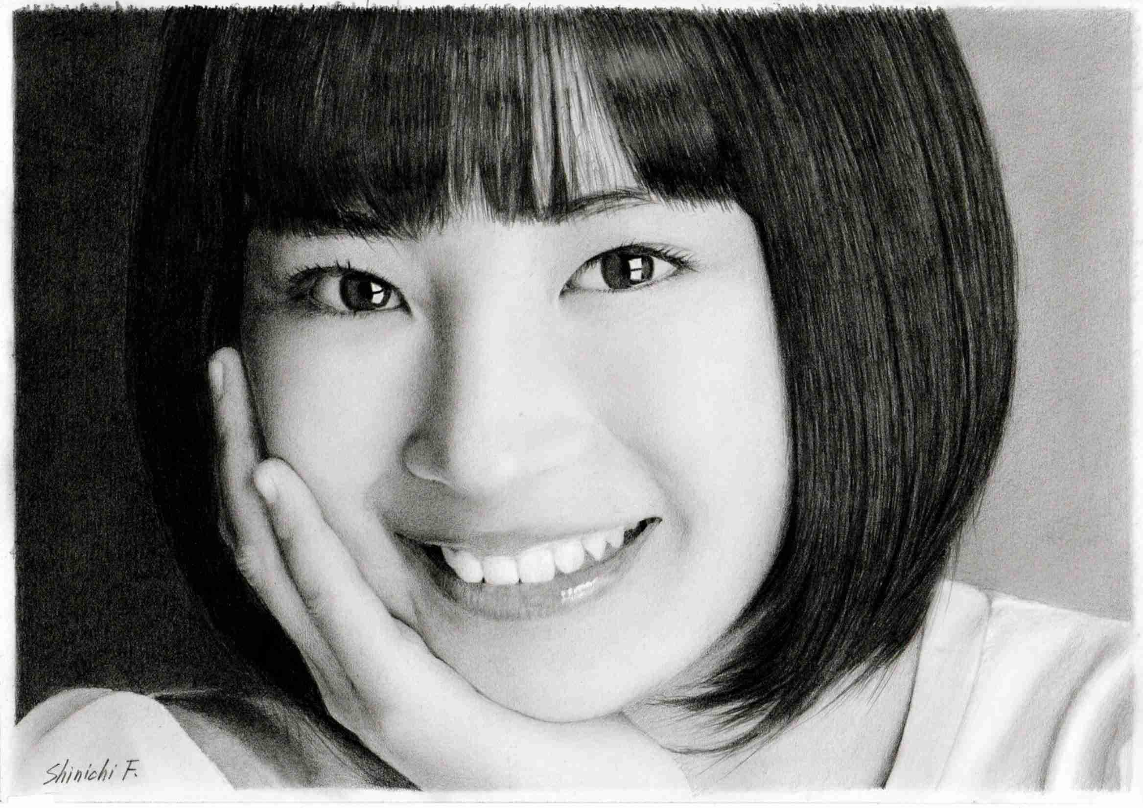 鉛筆画 広瀬すず 完成までの一部始終 動画 早送り / Pencil drawing/ Suzu Hirose/ Portrait/ How To Draw - YouTube
