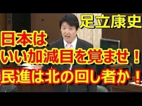 足立康史「岸田大臣は総理にふさわしくない」「民進党や共産党の前で言えないのも分かるが」「もっと真摯に向き合うべき」「民進は北朝鮮の回し者」最新の面白い国会中継 外務委員会【日本伝播 - YouTube