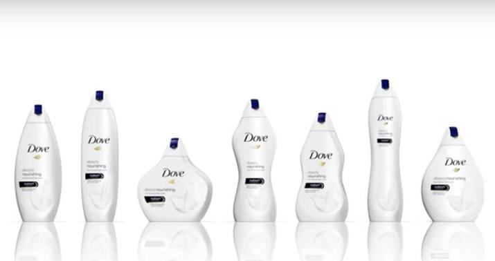 """""""女性の体形""""のボディソープ限定ボトル 英Doveのキャンペーンが物議"""