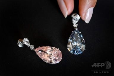 ダイヤのイヤリング、64億6000万円で落札 史上最高額 写真3枚 国際ニュース:AFPBB News