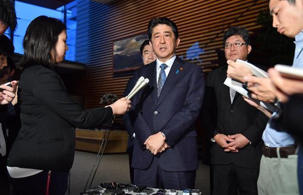 【北ミサイル】安倍首相「1週間の間にまた強行。米韓、中露とも連携し対処」 記者団への発言全文 - 産経ニュース