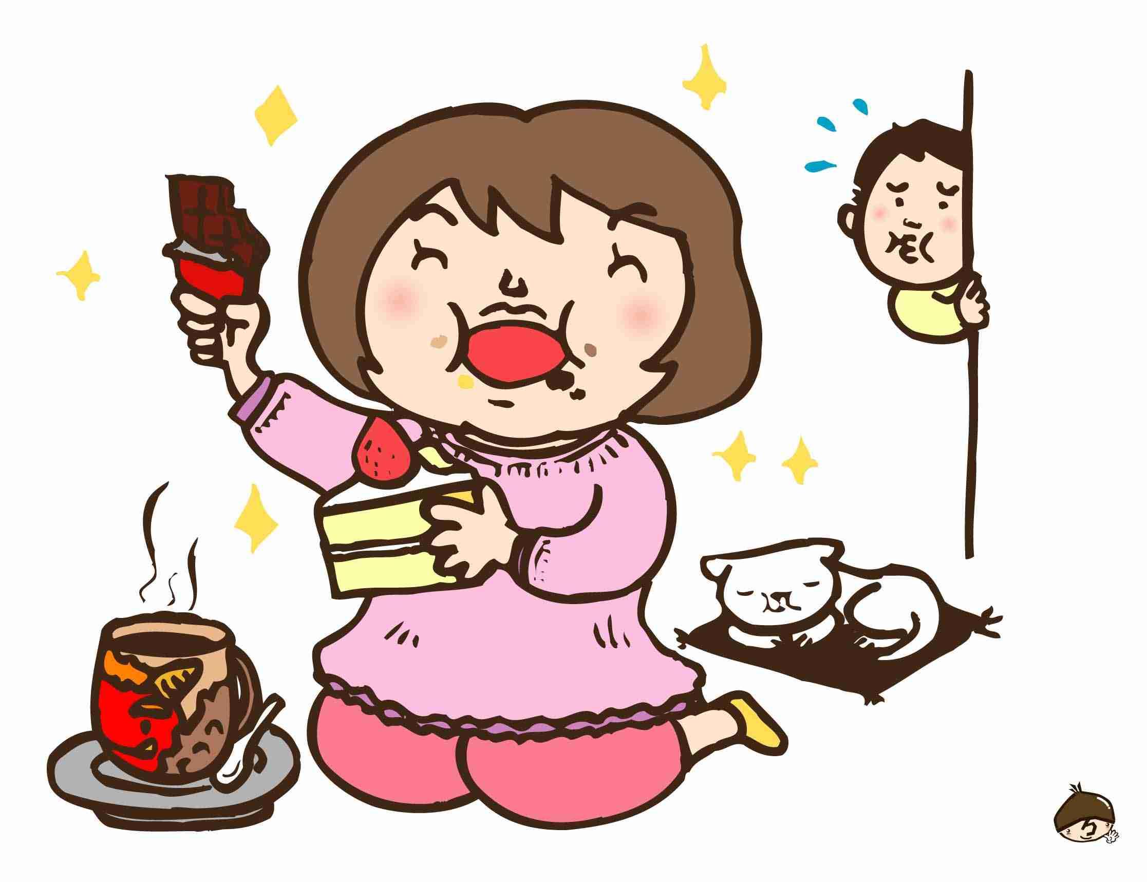 食べ過ぎを告白するトピ