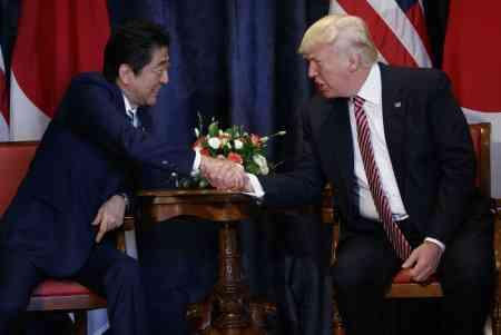 <日米首脳会談>対北朝鮮「対話より圧力」 防衛強化も合意 (毎日新聞) - Yahoo!ニュース