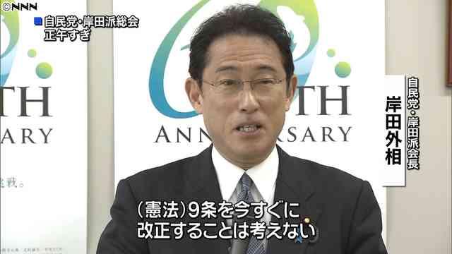岸田文雄外相が憲法9条に言及「今すぐ改正ということは考えない」 - ライブドアニュース