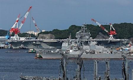 米空母レーガン出港、16日に変更=横須賀基地 (時事通信) - Yahoo!ニュース