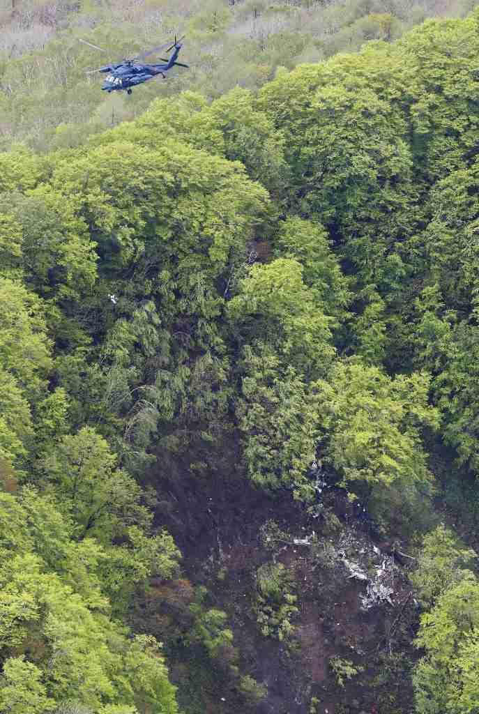 不明陸自機、山中で発見 北海道北斗市、4人不明 - 読んで見フォト - 産経フォト