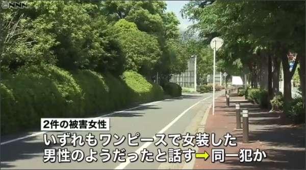 """""""女装男""""路上で女性を相次いで襲う 埼玉"""