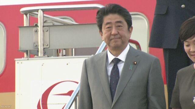 安倍首相 G7サミットなど終え 帰国 | NHKニュース