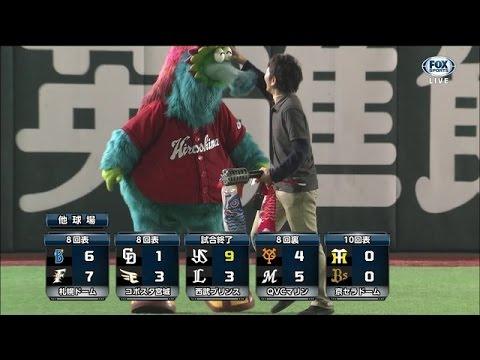 【放送事故】広島東洋カープのマスコット スラィリーまた目玉が取れる - YouTube