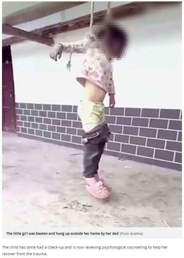 【閲覧注意】両親の離婚届けを破った少女、父親に首を吊られる(中国)