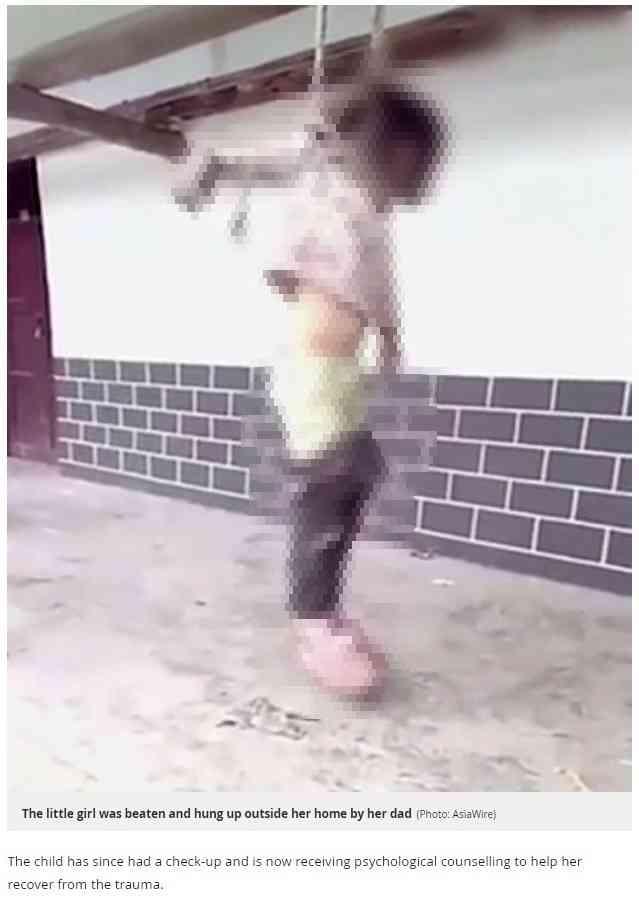 【海外発!Breaking News】両親の離婚届けを破った少女、父親に首を吊られる(中国)<閲覧注意>