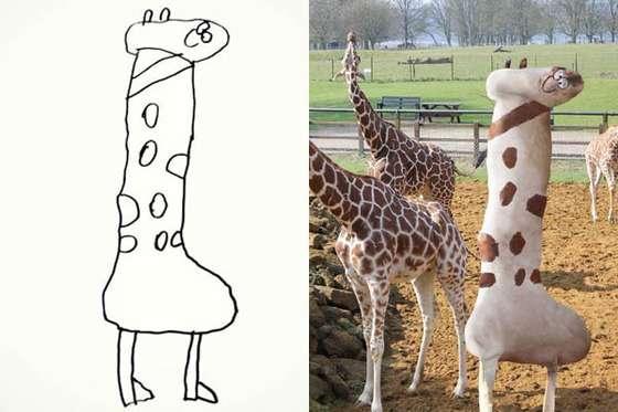 6歳の息子が描いた絵をパパが「現実化」させた加工写真wwwwwww : あじゃじゃしたー