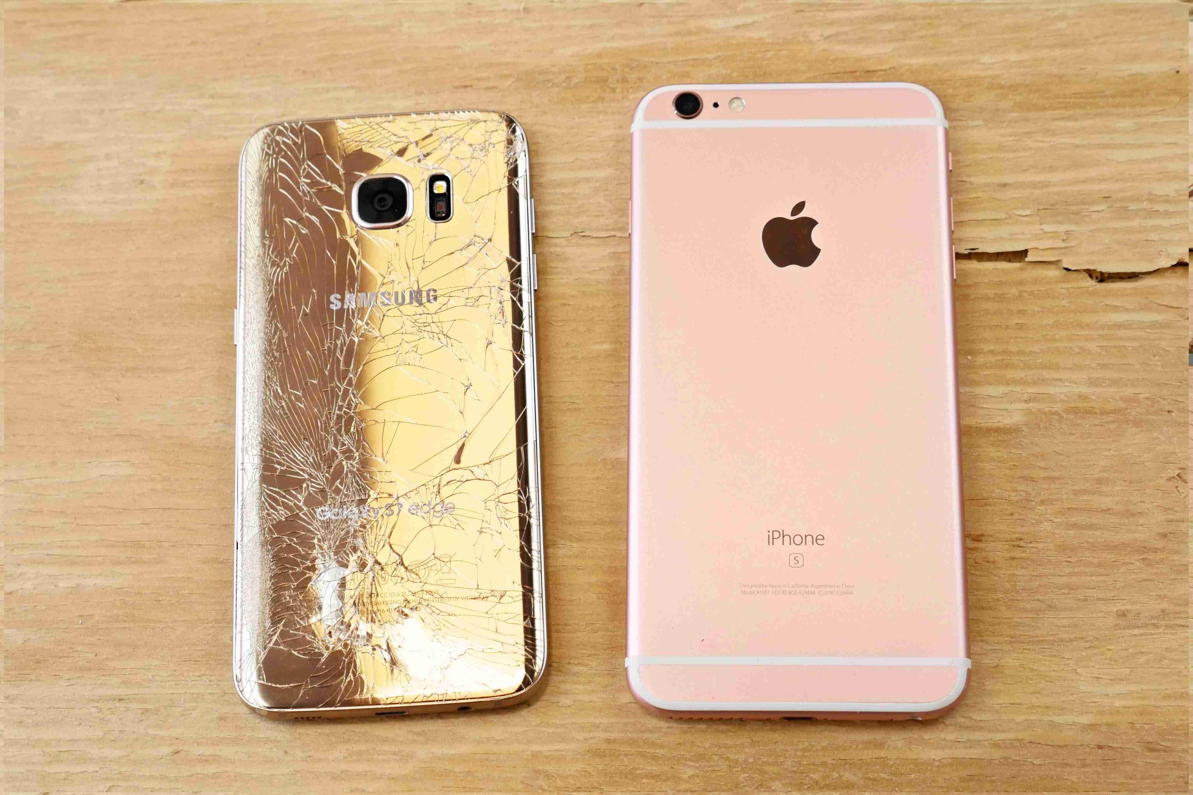 Samsung Galaxy S7 Edge vs iPhone 6S Plus Drop Test! - YouTube
