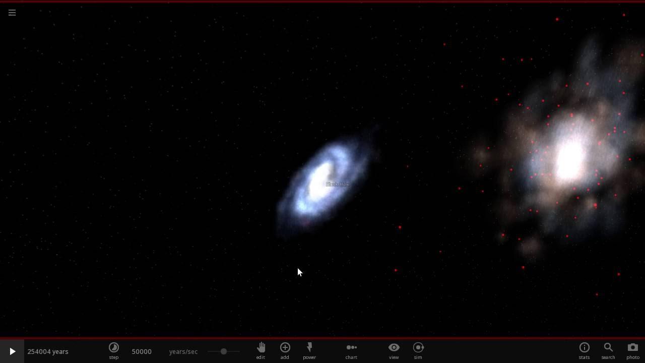 天の川銀河とアンドロメダ銀河の衝突 - YouTube