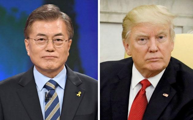 米韓首脳が電話協議 北朝鮮核問題、緊密な協力で一致 (写真=ロイター) :日本経済新聞