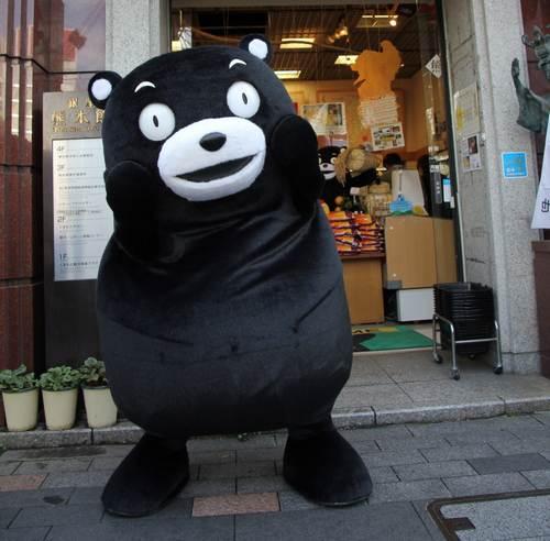 """くまモンが""""赤いほっぺ""""紛失、「普通の熊」になり激しく落ち込む"""