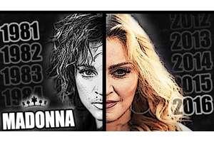 マドンナの顔の変化を振り返ったトリビュート映像が話題に - amass