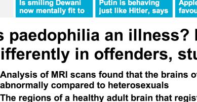 小児性愛者の脳配線に違い。 最新研究 – MAASH