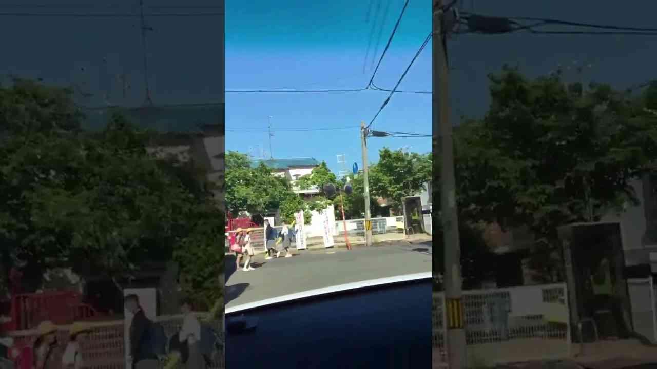 【逮捕目前】通学路に猛スピードの車、逃げ惑う生徒らの姿…車内から撮影の投稿動画 大阪府警が捜査 - YouTube