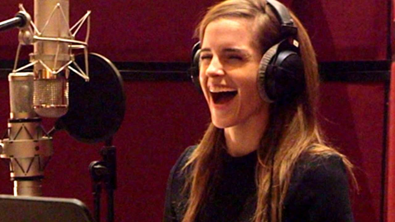 BEAUTY AND THE BEAST B-roll - Voice Cast Recording (2017) Emma Watson Disney Movie HD - YouTube