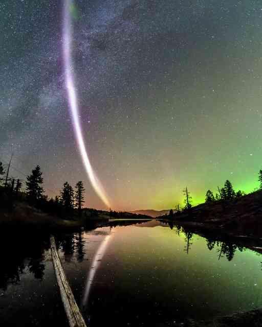 夜空になぞの発光、新種のオーロラか 北米で観測 (朝日新聞デジタル) - Yahoo!ニュース