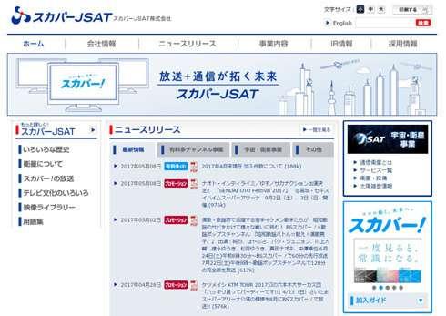 スカパーJSAT、決算発表を延期 不適切な会計処理の疑い (ITmedia NEWS) - Yahoo!ニュース