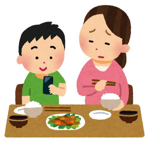 食事中にスマホを触る行為についてどう思いますか?