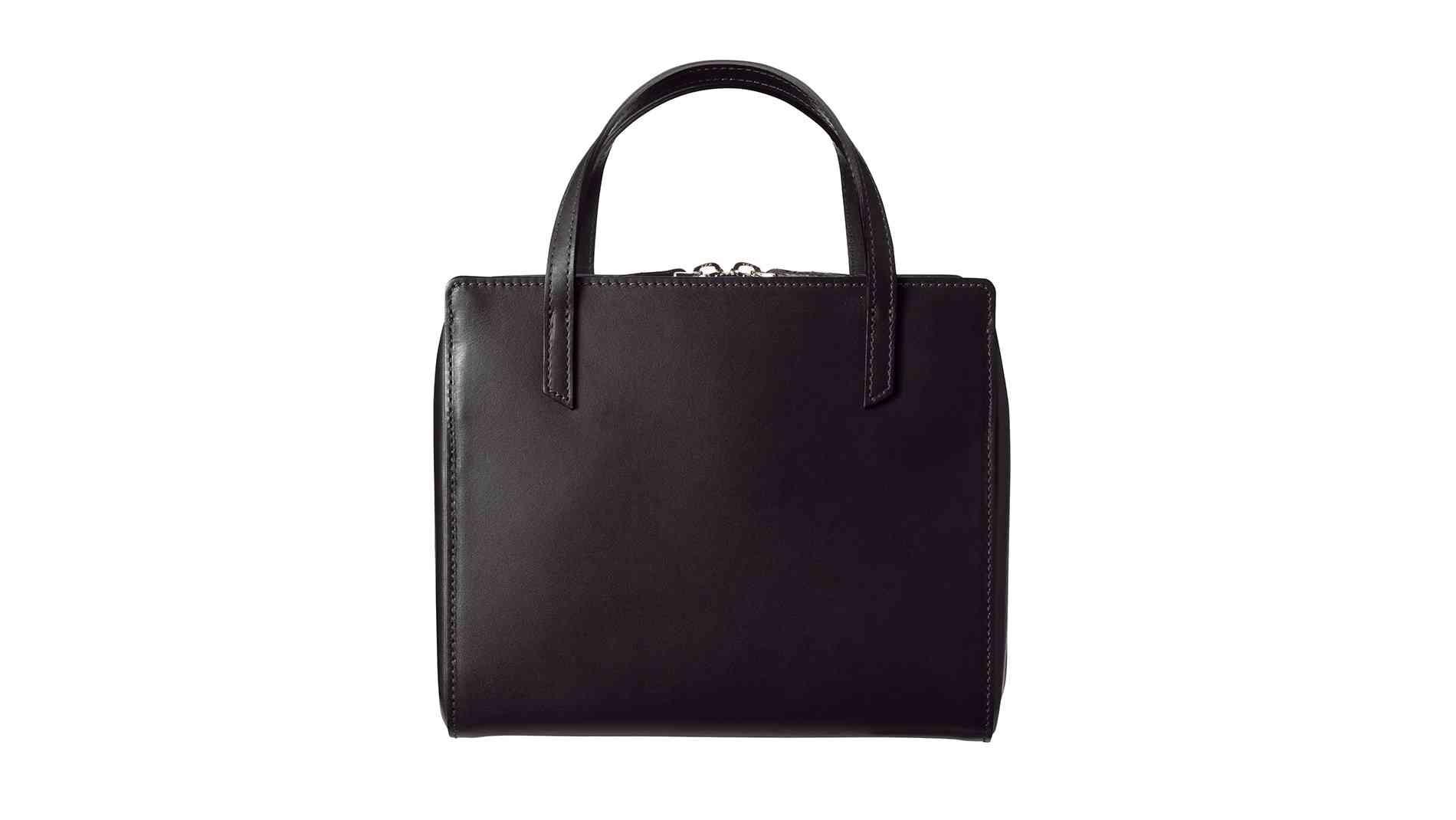 キカ スクエアボストンバッグ ブラック|上質な革素材を用いたレディース財布・小物(Epoi)