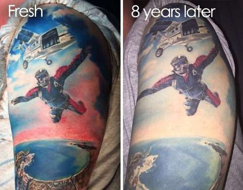 「タトゥーは一生消えないと言われるけど、何年も経ったら劣化するの?」彫った直後とその後のビフォー&アフター写真いろいろ